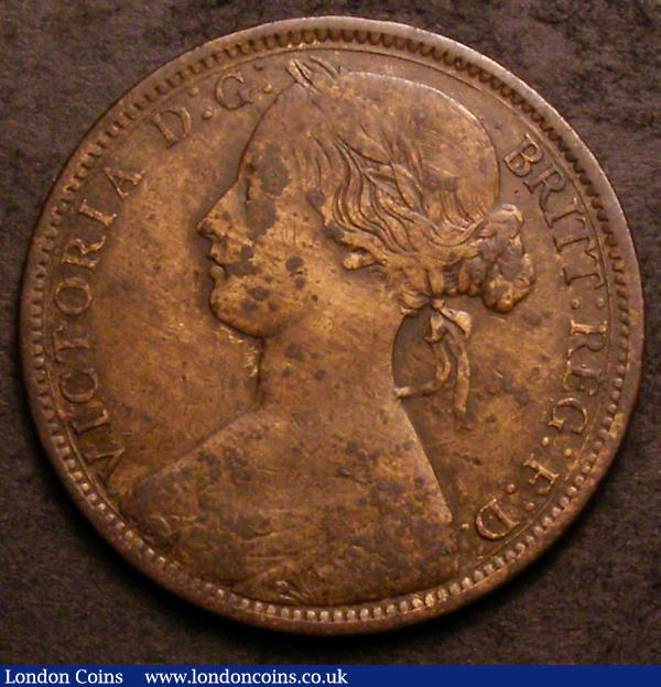 Penny 1861 Freeman 32 dies 6+F VG with some corrosion, all major details clear, very rare : English Coins : Auction 144 : Lot 1836