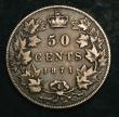 London Coins : A144 : Lot 559 : Canada 50 Cents 1871 KM#6 Near Fine/About Fine