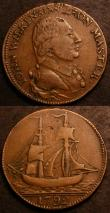 London Coins : A144 : Lot 917 : Halfpennies 18th Century Warwickshire (2) 1792 John Wilkinson (spelt 'Wilkison') DH338 and DH339 bot...