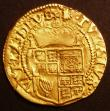 London Coins : A145 : Lot 1250 : Halfcrown in Gold James I First Bust S.2530 mintmark Trefoil About VF on a slightly uneven, but full...
