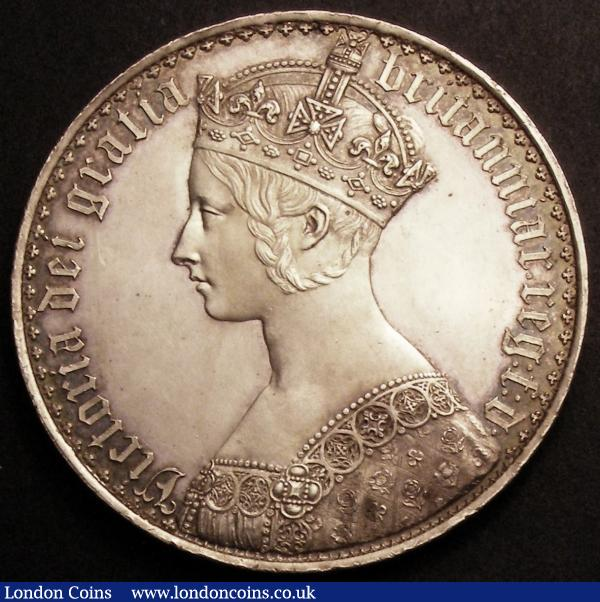 Crown 1847 Gothic UNDECIMO ESC 288 UNC, the Scottish shield with a small scratch, sharp and with frosted portrait and design, a pleasing piece : English Coins : Auction 145 : Lot 1372