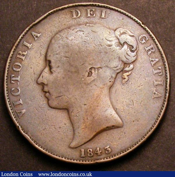 Penny 1843 No Colon after REG Peck 1485 VG, Very Rare : English Coins : Auction 145 : Lot 1880