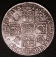 London Coins : A145 : Lot 2014 : Shilling 1715 Roses and Plumes ESC 1162 Good Fine or slightly better