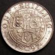 London Coins : A145 : Lot 2068 : Shilling 1897 ESC 1366 Lustrous UNC the obverse with a pleasing old tone