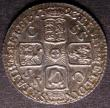 London Coins : A145 : Lot 2099 : Sixpence 1723 SSC Small Obverse Lettering ESC 1600 GEF and choice, lightly toned, slabbed and graded...