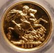 London Coins : A145 : Lot 2369 : Sovereign 2009 Bullion S.4433 UNC and with almost full lustre, slabbed and graded CGS 94