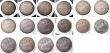 London Coins : A145 : Lot 2515 : Crowns (11) 1819LIX, 1820 LX, 1820 20 over 19, 1821, 1822 TERTIO, 1890, 1894LX, 1897LXI, 1899LXII, 1...
