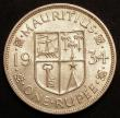 London Coins : A145 : Lot 689 : Mauritius Rupee 1934 KM#17 UNC and lustrous with a few light contact marks
