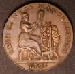 London Coins : A145 : Lot 972 : Halfpenny 18th Century Devon 1796 Plymouth, Spinning Wheel and Loom NEF with a trace of lustre