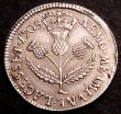 London Coins : A146 : Lot 1361 : Scotland 5 Shillings 1705 S.5702 GVF