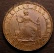 London Coins : A146 : Lot 2674 : Penny 1860 Pattern by J.Moore in copper Obverse 1 Reverse A, Britannia facing right Freeman 828, Pec...