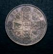 London Coins : A146 : Lot 2933 : Florin 1871 ESC 837 Die Number 47GVF/NEF once cleaned