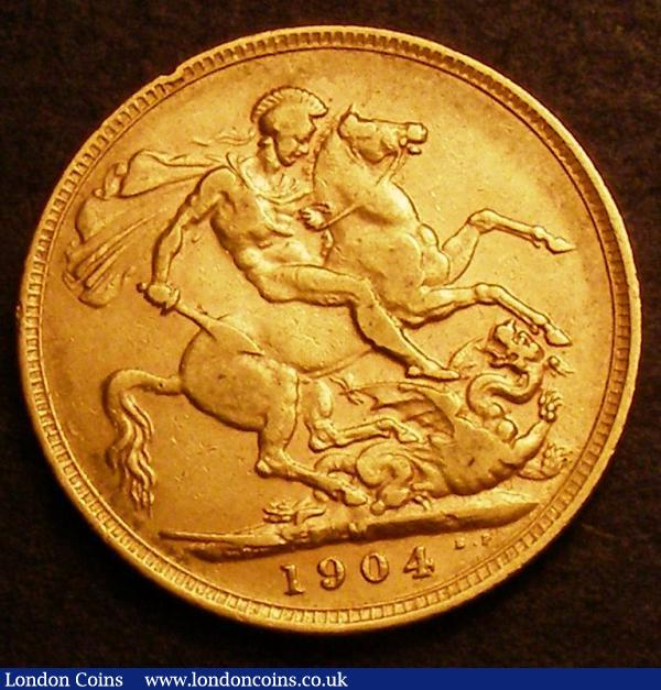 Sovereign 1904M Marsh 188 Good Fine/Fine : English Coins : Auction 146 : Lot 3609