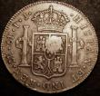 London Coins : A147 : Lot 2234 : Dollar George III Oval Countermark on a Peru 8 Reales 1790 ESC 133 countermark GVF host coin GF with...