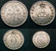 London Coins : A147 : Lot 2755 : Maundy Set 1671 ESC 2367 NVF to NEF the Twopence with some damage to the crown