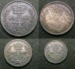 London Coins : A147 : Lot 2764 : Maundy Set 1856 ESC 2467 Fine to VF the Fourpence with some digs on the obverse