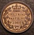 London Coins : A147 : Lot 3356 : Third Farthing 1866 Proof Peck 1927 UNC with traces of lustre