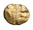 London Coins : A148 : Lot 1434 : Stater Au. Trinovantes. Whaddon chase type. C, 55-45 BC. Obv; Abstract head of Apollo. Rev; Horse r,...