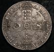 London Coins : A148 : Lot 1628 : Crown 1666 XVIII edge ESC 32 GVF with and attractive grey tone, slabbed and graded CGS 50 and rare i...
