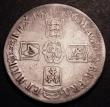 London Coins : A148 : Lot 1655 : Crown 1696 OCTAVO ESC 89 Near Fine