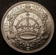 London Coins : A148 : Lot 1762 : Crown 1929 ESC 369 Lustrous UNC and choice with original brilliance under a light grey tone, slabbed...