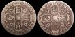 London Coins : A148 : Lot 1785 : Crowns (2) 1684 TRICESIMO SEXTO ESC 67 NVG/VG rated R2 by ESC, 1667 DECIMO NONO ESC 35A with diagona...
