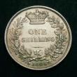 London Coins : A148 : Lot 2316 : Shilling 1845 as ESC 1292, the 5 of the date broken at it's base, GEF with traces of golden ton...