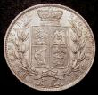 London Coins : A148 : Lot 2643 : Halfcrown 1887 Young Head ESC 717 EF or better with a tone spot on Victoria's hairline, slabbed...