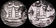 London Coins : A149 : Lot 1052 : Ancient Burma - Kingdom of Sriksetra Full Unit 96 Ratti 5th to 7th Century (2) approximately 35 mm i...