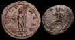 London Coins : A149 : Lot 1633 : Bil.Antoninianus Claudius II, Antioch 268, rev. Neptune holding dolphin and trident (RCV 11353) GVF ...
