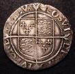 London Coins : A149 : Lot 1758 : Shilling Elizabeth I Sixth Issue S.2577 mintmark Tun Good Fine with an even strike, comes with old c...