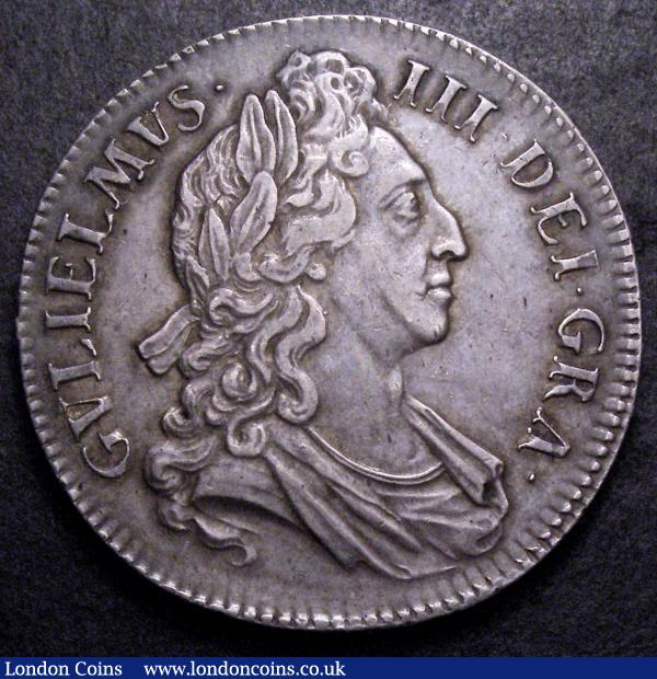 Crown 1695 OCTAVO ESC 87 GVF with a pleasant even tone, the reverse with some minor contact marks : English Coins : Auction 149 : Lot 1861