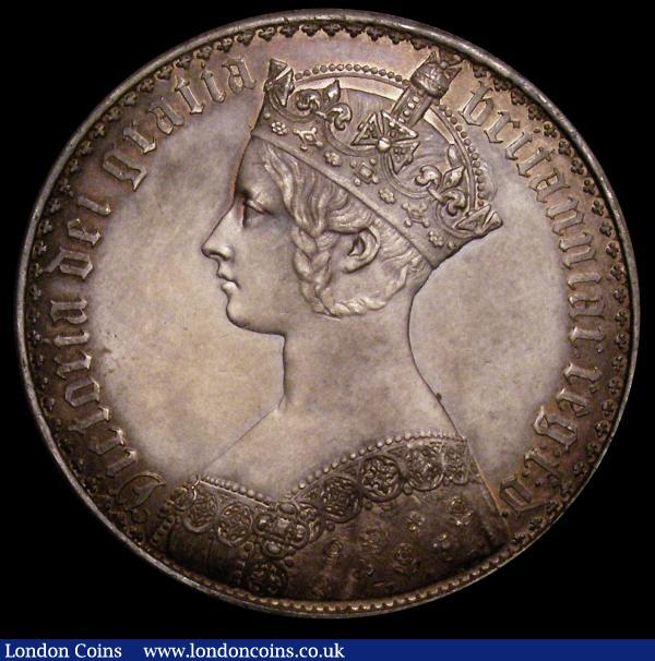 Crown 1847 Gothic UNDECIMO Proof ESC 288 EF toned : English Coins : Auction 149 : Lot 1897