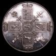 London Coins : A149 : Lot 1961 : Crown George III undated silver pattern by Webb for Mills and Mudie ESC 221 UNC, slabbed and graded ...