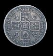London Coins : A149 : Lot 2171 : Halfcrown 1726 ESC 593 Small Roses and Plumes. DECIMO TERTIO edge Ex-M.Kaufman Collection, Ex-R.Shut...