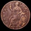 London Coins : A149 : Lot 2284 : Halfpenny 1675 No stops on Obverse Peck 517 About Fine for wear, the flan pitted, Very rare, we note...
