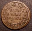 London Coins : A149 : Lot 2295 : Halfpenny 17th Century Cheshire, Stockport 1667, Margaret Nicholson Williamson 77 Bold Fine