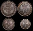 London Coins : A149 : Lot 2327 : Maundy Set 1887 ESC 2501 UNC with an attractive matching tone