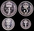 London Coins : A149 : Lot 2359 : Maundy Set 1973 ESC 2590 UNC to nFDC with full mint brilliance, the Fourpence, Threepence and Penny ...