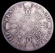 London Coins : A150 : Lot 1193 : Scotland 4 Merks 1674 F below bust, the 4 overstruck probably over a 3 S.5606 with upright die axis,...