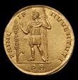 London Coins : A150 : Lot 1676 : Modern copy in gold of a Multiple 4 aureus of Constantine I. C,306-307 AD.  Rev:  PRIC - IP - I IVVE...