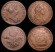 London Coins : A150 : Lot 2132 : Farthings Patterns or medalets William and Mary (4) Montagu 15b in copper, About Fine, William and M...