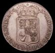 London Coins : A150 : Lot 2286 : Halfcrown 1689 First Shield, Caul and interior frosted, with Pearls ESC 503 EF the reverse with a pl...