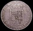London Coins : A150 : Lot 2290 : Halfcrown 1689 First Shield, no frosting, pearls ESC 507 Fine the obverse with some light haymarks