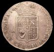 London Coins : A150 : Lot 2292 : Halfcrown 1689 Second Shield, Caul only frosted, Pearls ESC 510 EF or near so with some haymarking