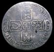 London Coins : A150 : Lot 2304 : Halfcrown 1697 First Bust Large Shields, with B over I in HIB, unrecorded by ESC or Spink, VG with u...