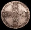 London Coins : A150 : Lot 2339 : Halfcrown 1751 ESC 610 About UNC and nicely toned, a couple of slightly darker toning areas barely d...