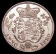 London Coins : A150 : Lot 2352 : Halfcrown 1820 George IV ESC 628 Lustrous UNC with some small rim nicks, an attractive piece with mu...