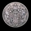 London Coins : A150 : Lot 2360 : Halfcrown 1828 ESC 648 VG/the reverse slightly better, Rare