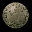 London Coins : A150 : Lot 2458 : Halfpenny 1700 GVLIELMS error, BRITANNIA with unbarred A's Peck 699 VG but a clear and collecta...